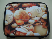 Cheap Price Bear Patterns Zipper Neoprene Laptop Tablet Stand Case Bag for ipad air ipad mini4