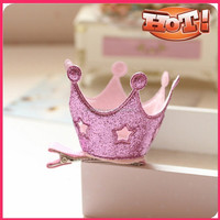 Fancy bling bling wholesale crown barrette for baby kid girl