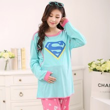 Fashion Long sleeves printing maternity clothes