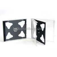10.4MM Plastic PS Double Black Jewel Case For CD Packaging