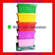 2015 Hot Sale Moving Company Use Plastic Attached Lid Containers