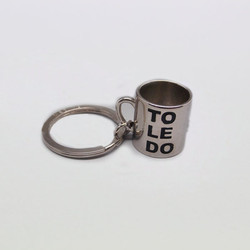 Hot sale high-quality custom metal cup keychain with PET box