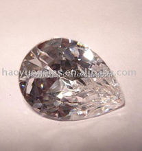 hot sale White Pear Cut Cubic Zirconia with High Quality and Low Price akik stone