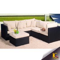Hot sale Garden Outdoor Wicker Furniture Sectional Sofa Deep Seating Sofa Set