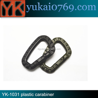 Hot-sale good quality small plastic carabiner,mini carabiner for bags and bottle