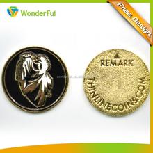 Double Side Engraving And Enamel Logo High Quality Cheap Art & Collectible Metal Souvenir Coin
