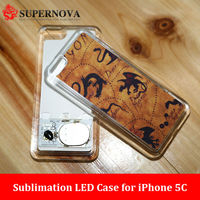 Custom Mobile Phone Cover for iPhone 5C with Flashing LED Light