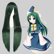 High Quality 100cm Long Straight Touhou Project-Mima Green Mixed Synthetic Anime Wig Cosplay Hair Wig Party Wig