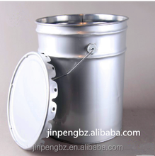 25L tin bucket with steel handle for latex paint, cating or other chemical products