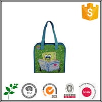 BSCI audited factory promotional reusable supermarket grocery foldable polyester shopping bag