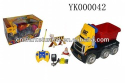 new design 4 channel 1:18 RC cartoon trailer with crystal wheels
