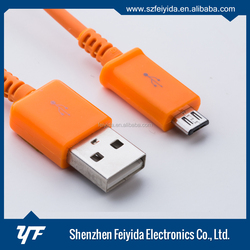 1M PVC + Optical fiber data colorful LED usb cable for Mobile Phone