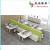 made in china office desk with partition double workstation desk HL-10