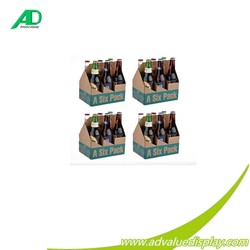 Custom wholesale high quality paper Material 6 bottle wine cardboard bottle carrier