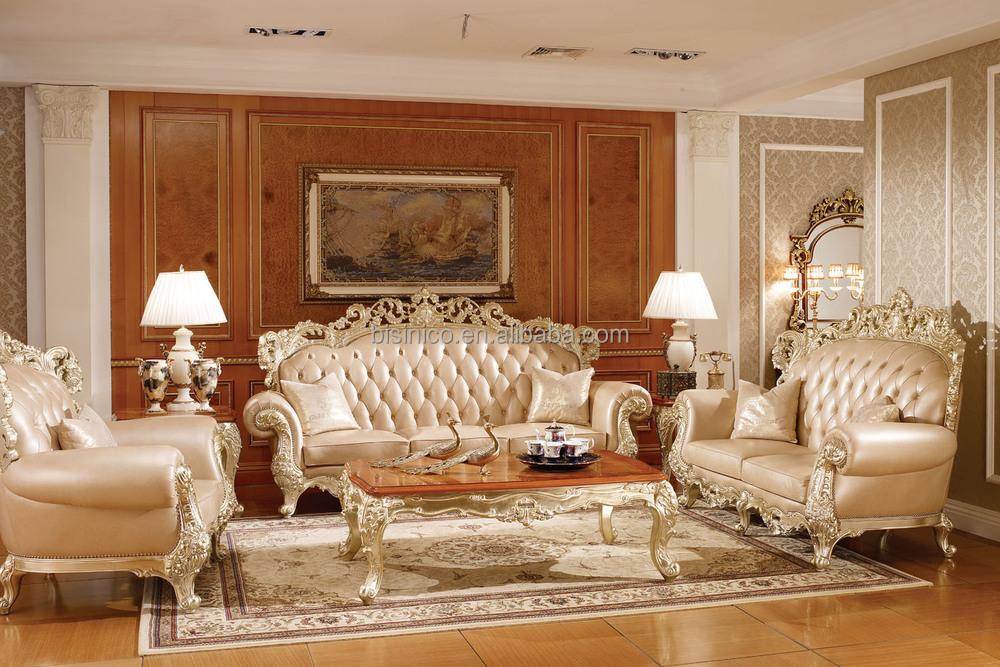 Victoria estilo tallado sofá de madera maciza, Luxury living room ...