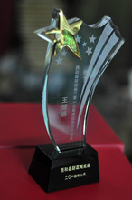 luxury star crystal trophy crystal award crystal glass award souvienir gifts custom logo company award gifts