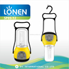 LONEN CFL E27 4500mAh battery and USB power bank phone charger rechargeable emergency outdoor lantern with radio
