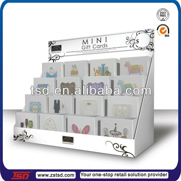 Tsd w835 custom rotating greeting card wholesale display racksgift cardboard card display 4 m4hsunfo