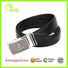 pure black man PU belt with metal buckle