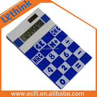 electronic gift items solar energy silicone material wholesale calculator