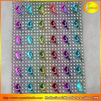 "Sparkle Rhinestone Crystal Looking Ribbon 4.6"", 11.7cm wide Plastic Mesh Trimming"