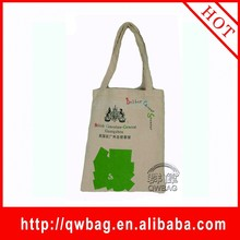 Durable custom made logo printing standard size cotton tote bag
