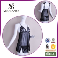 Young Girl Matching Panty Sexy Lingerie Tube Sexy Lace Babydoll Lingerie