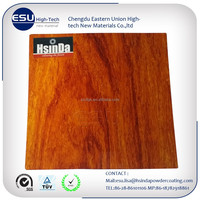 China wood grain Samples available electrostatic Epoxy Polyester Thermosetting Powder Paint coating