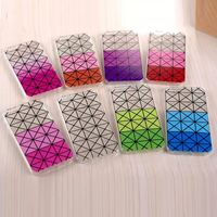 2015 The Newest luxury brand Grid stripe candy color Gradual change Design Tpu case For iphone5 5s 6 4.7inch 6 plus 5.5 inch