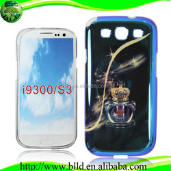 Wholesale slim Printing blue light IMD TPU new design phone cover for Samsung S3 I9300