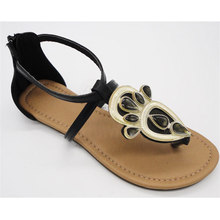 Factory directly twinkling black shoes chappals sandals