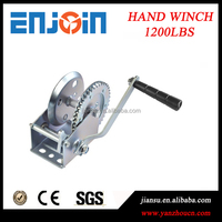 CE SGS approved Manufacturing 1200lbs galvanized hand deck winch
