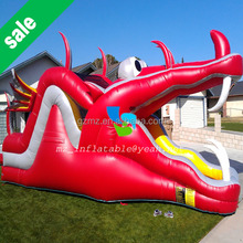 MAN ZHOU New design red inflatable slide/commercial inflatable slide