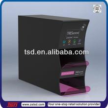 TSD-A206 custom retail store shampoo bottle acrylic display case/acrylic display dispenser/acrylic stand supermarket