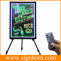 cheap glass full color promotional fluorescent led writing board