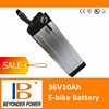 Electric bike battery, 36V10Ah rechargeable lithium ion battery with BMS , charger