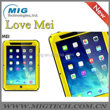LOVE MEI Powerful AL metal phone cases for ipad mini cover , Shockproof Waterproof Rugged Gorilla 6 colors optional