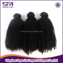 China factory indian curly human hair extension,black women hair,afro curl indain hair extension
