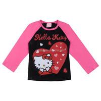 Fashion Baby girls long sleeve tshirts cotton hello kity tee kids fashion graphic tees