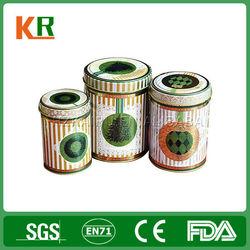 wholesale Round tea tin/Round airtight tea tin box/Round tea tin container