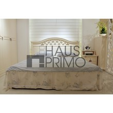 Hongjin New Style Solid Wood Queen Size Low Bed
