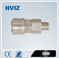 1/4,3/8,1/2 CE HVIZ China standard nitto nickel plated male pipe thread type quick coupler