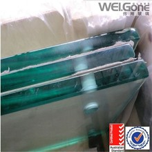 12mm thick ultra clear Tougnened Glass with hole, low iron toughened glass(AS/NZS2208:1996 )