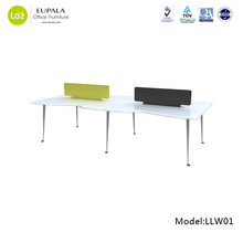 office table/Stylish office desk/Modern curved office workstation