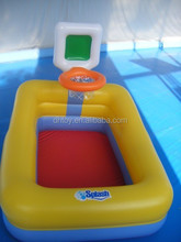 swimming pool with baskeball game zone