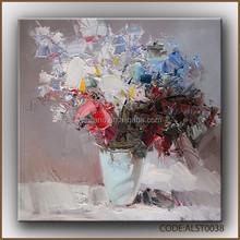Elegant white flower oil painting/simple flower paintings