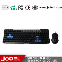2015 Super cool wired gaming computer keyboard and mouse wholesale cheap