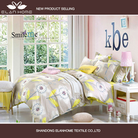 100% cotton print fabric new summer warm color kids designs bed sheet
