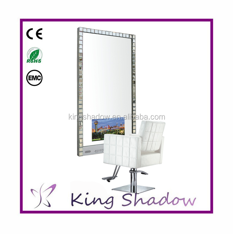 Kingshadow 0080f style station de miroir moderne salon for Salon de coiffure miroir