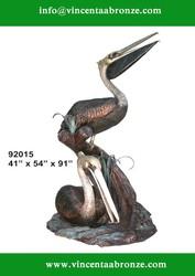 Bronze Pelicans sculpture for sale